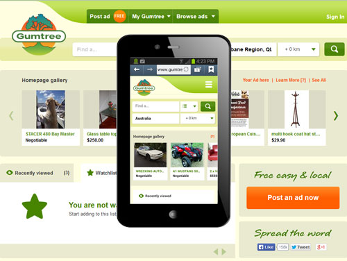 Gumtree's mobile responsive web design
