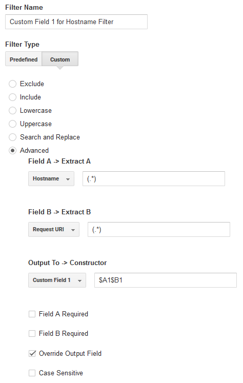 Custom field 1 Shopify hostname