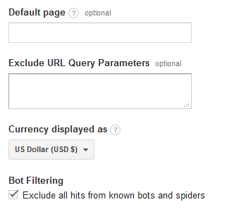 Exclude all hits from known bots and spiders