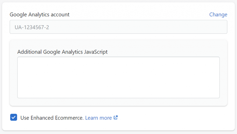 Google Analytics enhanced ecommerce in Shopify