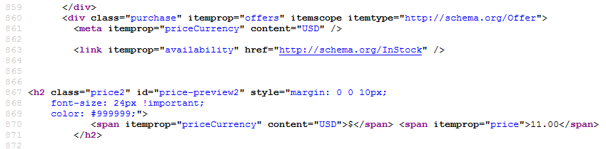 Offer schema source code