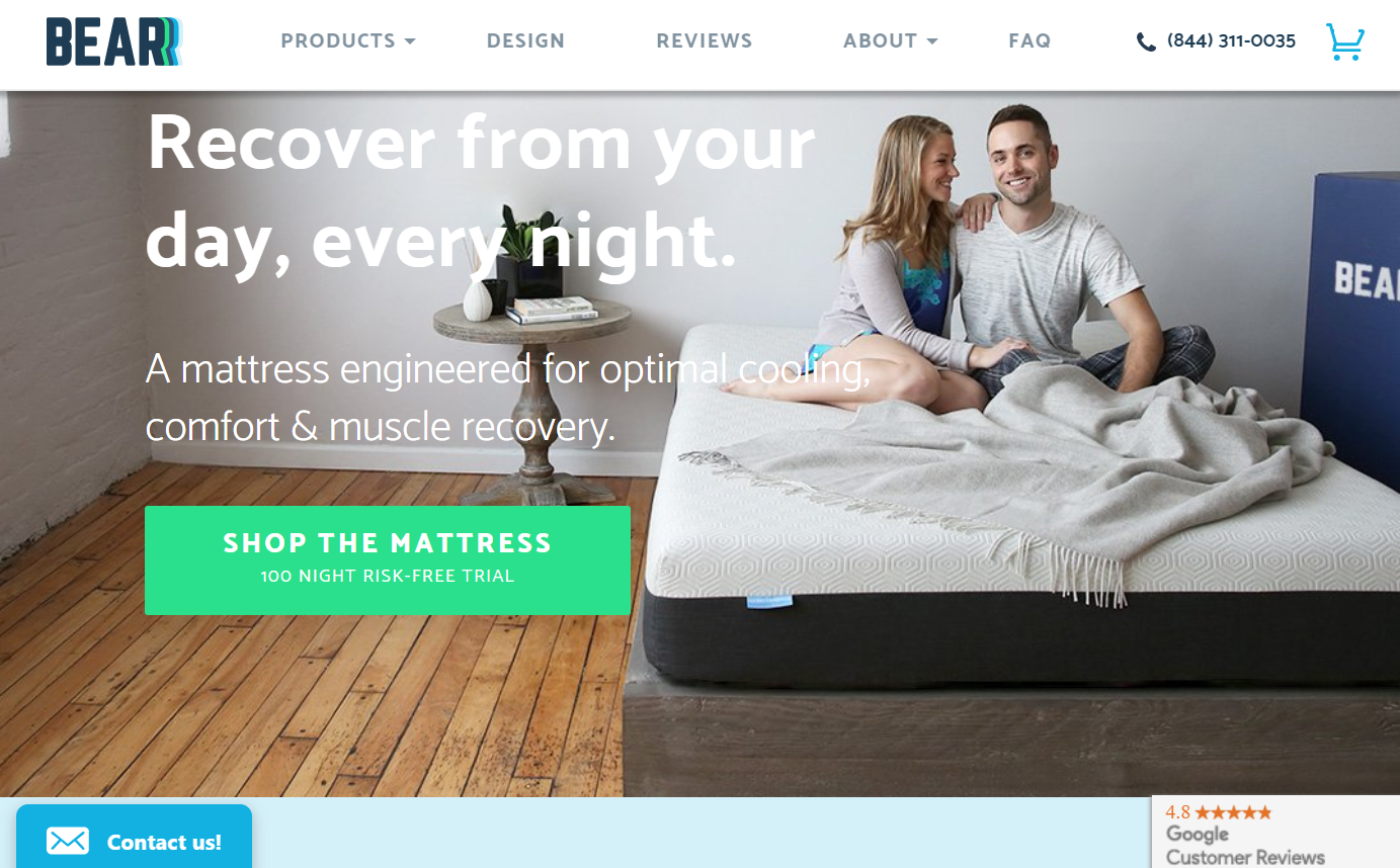 Bear Mattress with Googel Customer Reviews