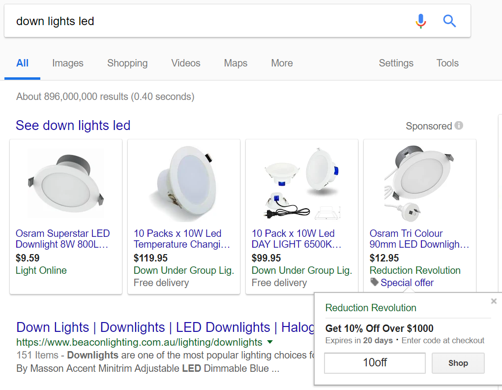 Google Shopping promotion with promotion ID