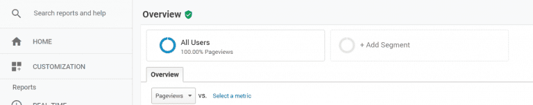 Add segment in Google Analytics